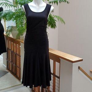 MAX STUDIO Black Ruched Dress #5904D54 Large